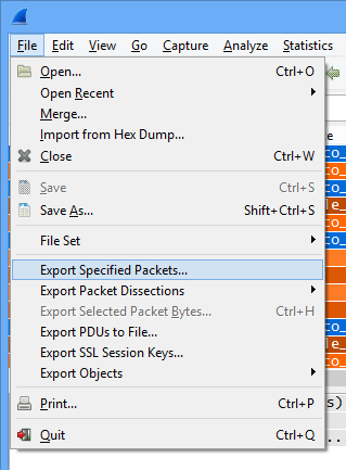 Save Filtered Packets with Eye P A  and Wireshark – MetaGeek Support