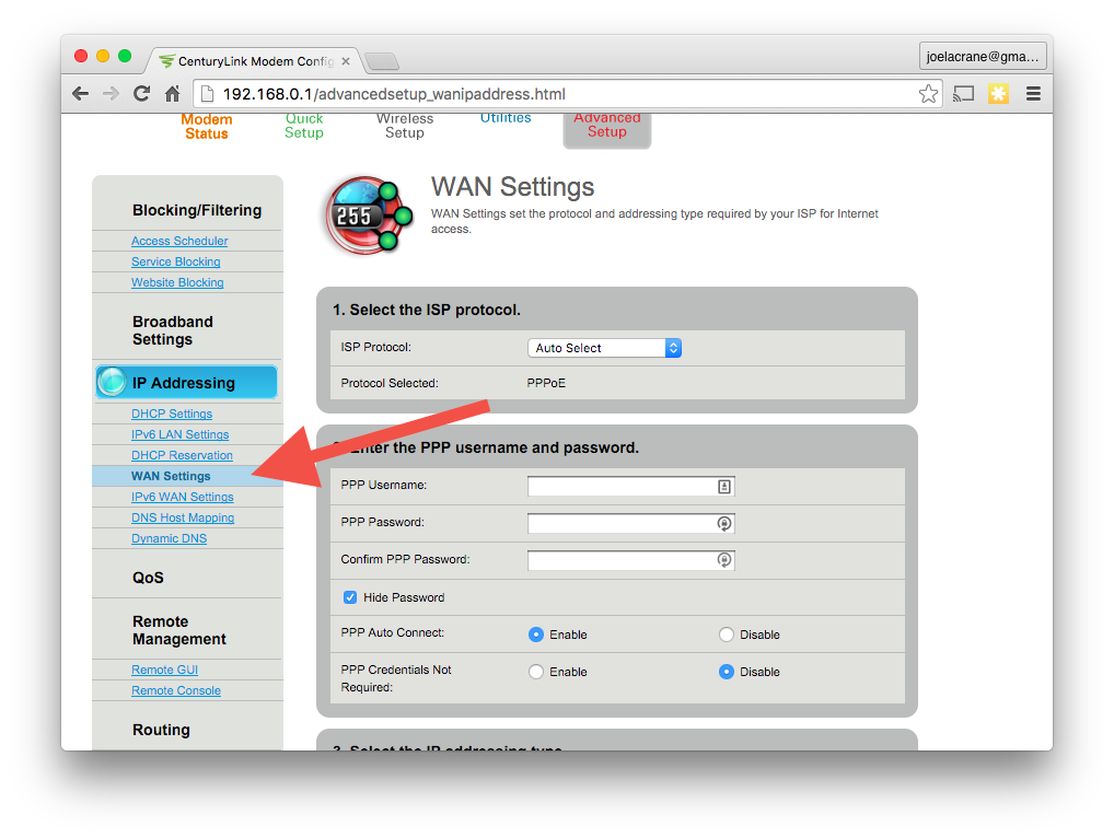 how do i use a different router my dsl service metageek 6 on the menu on the left click on the wan settings link