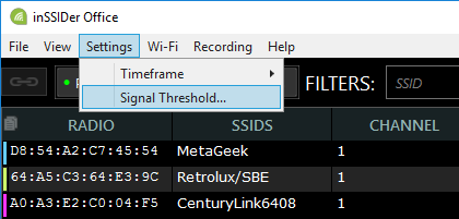 How to Check Signal Strength with inSSIDer Office – MetaGeek Support